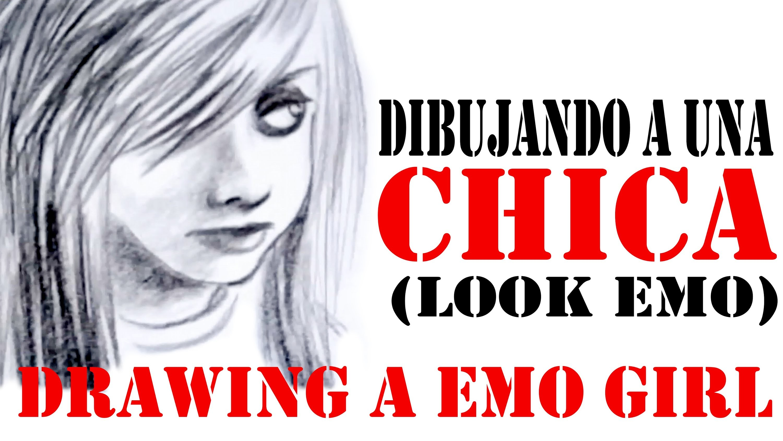 DIBUJANDO A UNA CHICA (EMO) - DRAWING A EMO GIRL