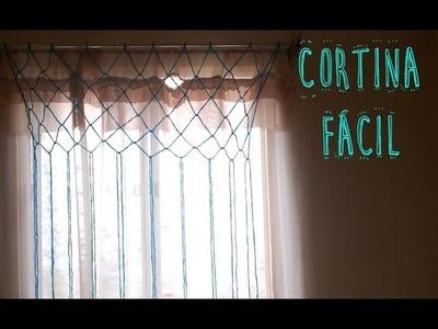 DIY cortina hecha con lana fácil - Ammy ♥