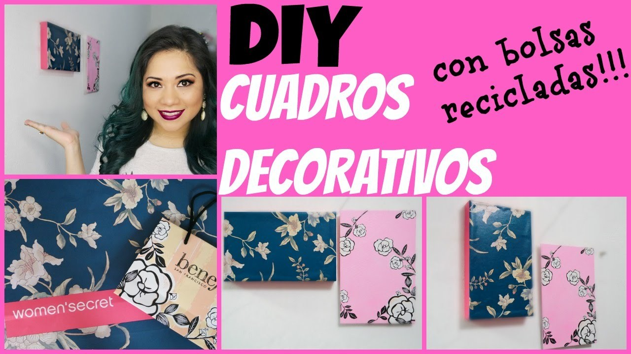 DIY: cuadros decorativos con bolsas benefit y women´s secret por Fantasticazul