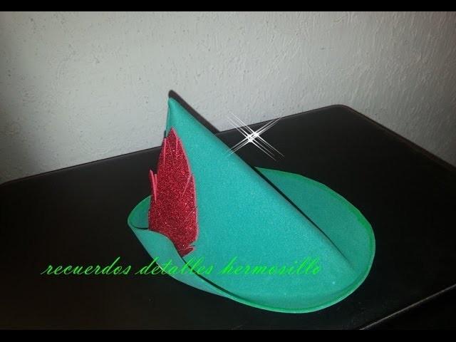 DIY  Dulcero Gorro Peter Pan