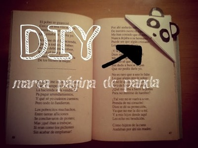 DIY marcador de página de panda  ♥♥