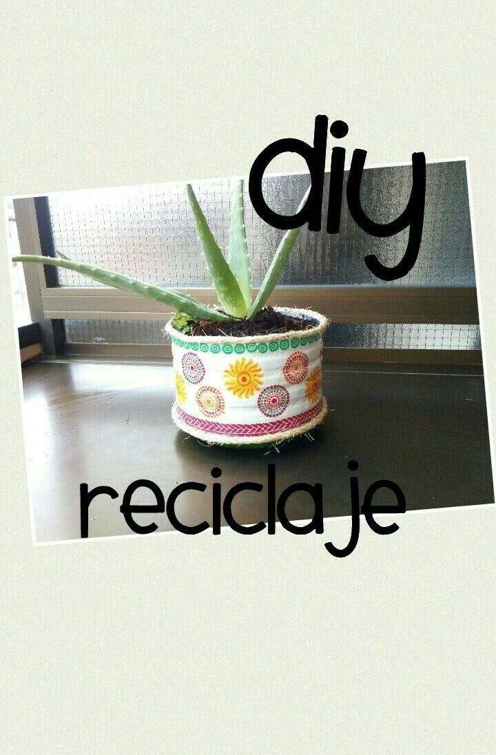 DIY reciclaje - De garrafa a tiesto para planta