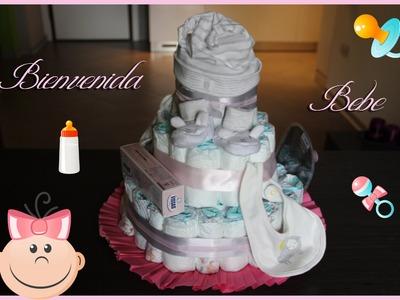 DIY - Torta de Pañales - Bienvenida bebè!!