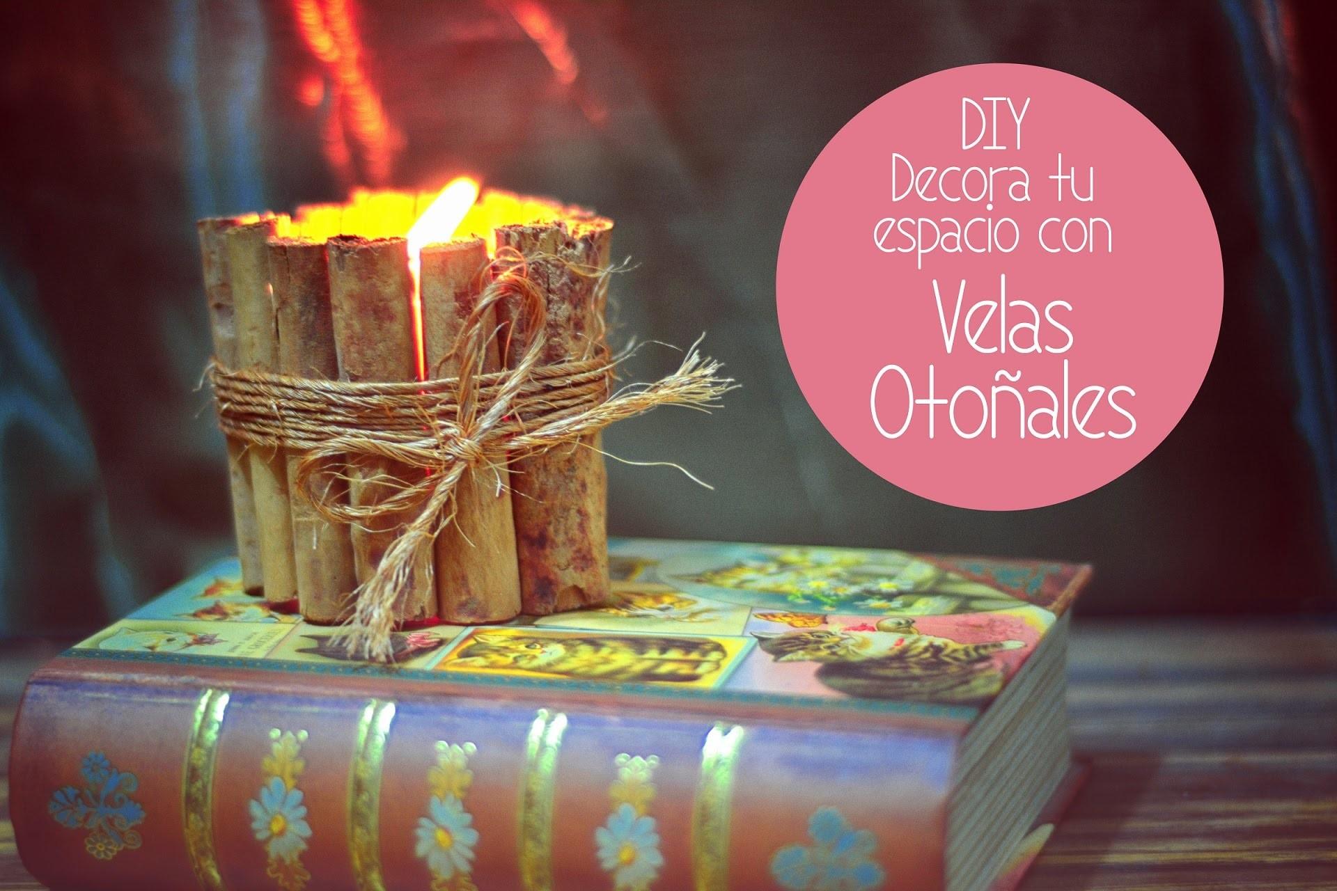 DIY Velas decoradas con canela