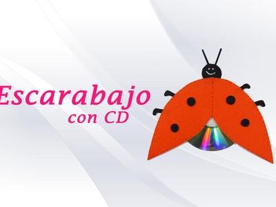 ESCARABAJO CON CD » Manualidad con material reciclable