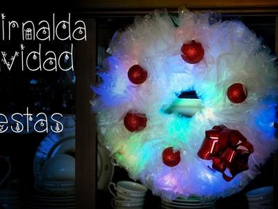 Guirnalda de Luces Bolsas de Plastico Recicladas, Navidad o Fiestas