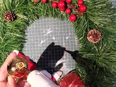 Manualidades Adorno de navidad para la puerta, Guirnalda o Corona