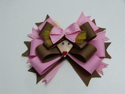 Perritos en cinta gros para decorar accesorios cabello. Hair Clips