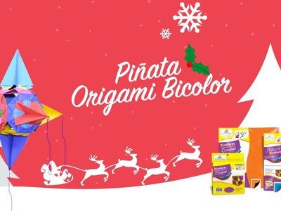 Piñata Origami Bicolor Manualidades DIY