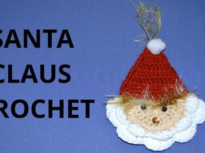 Santa Claus en tejido crochet tutorial paso a paso.