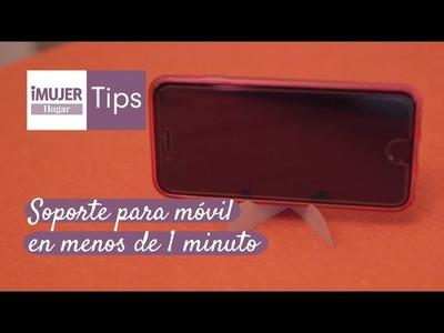 Tips Hogar | Soporte para móvil en menos de 1 minuto | @iMujerHogar