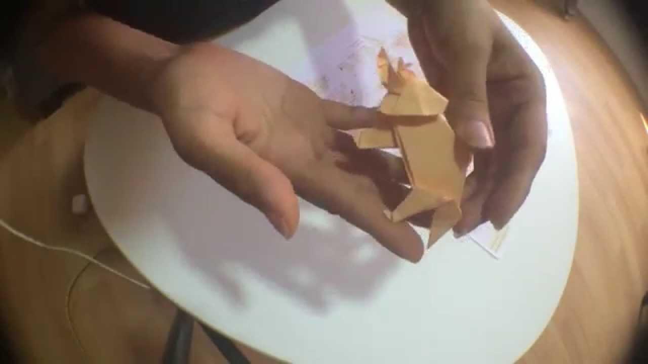 Triceratops origami - TimeLapse (No tutorial)