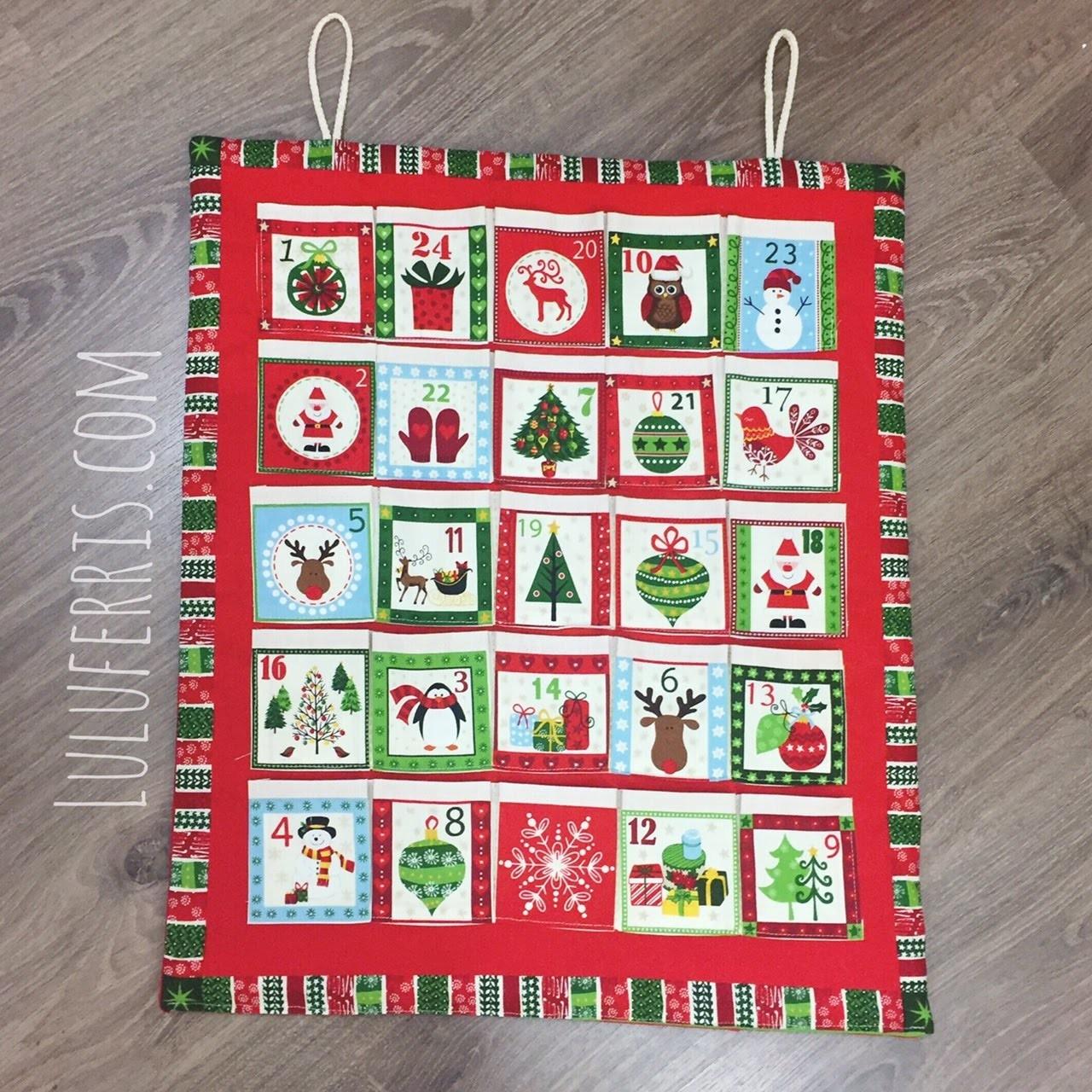 Tutorial #50 : Cómo coser Panel Calendario de Adviento