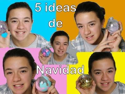 5 ideas para decorar bolas de Navidad
