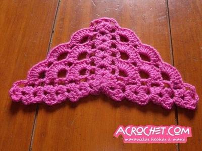 Blog Acrochet Abanicos pequenhos 2 lados tecnica de crochet parte 1