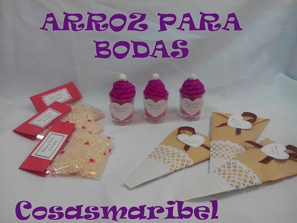 BODAS ORIGINALES:TRES IDEAS PARA EL ARROZ
