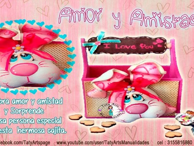 Caja I love You  Taller virtual  amor y amistad Taty Arts