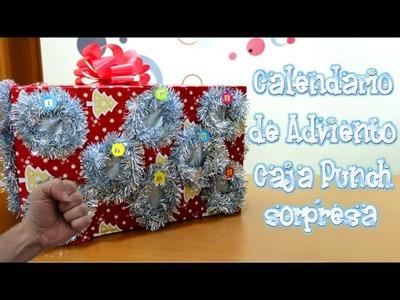 Calendario de adviento caja sorpresa punch con el mundo de isa | Manualidades Navidad