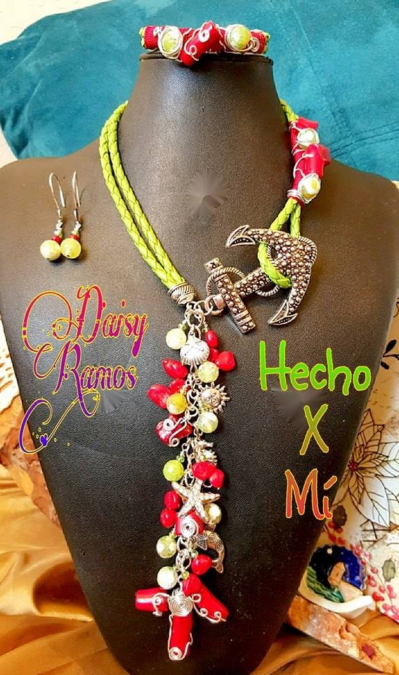 Collar con Ancla, Aretes y Pulsera, Anchor Necklace DIY