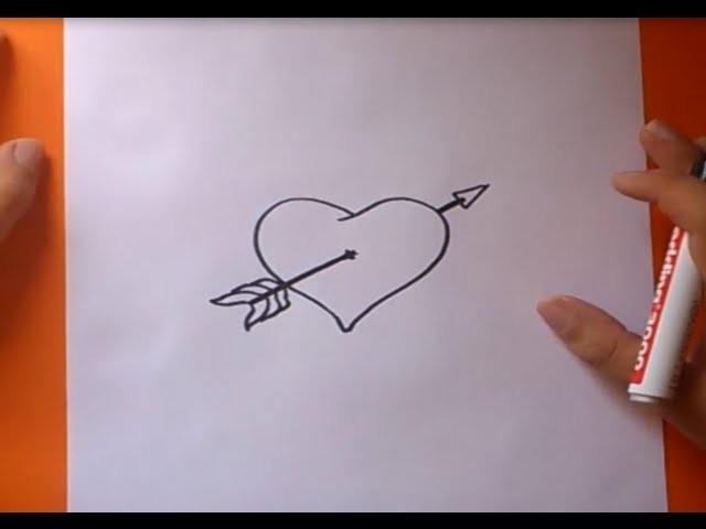 Como dibujar un corazón paso a paso 2 | How to draw a heart 2