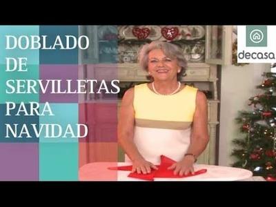 Cómo doblar las servilletas para decorar la mesa de Navidad (DIY) | Lilla Moreno