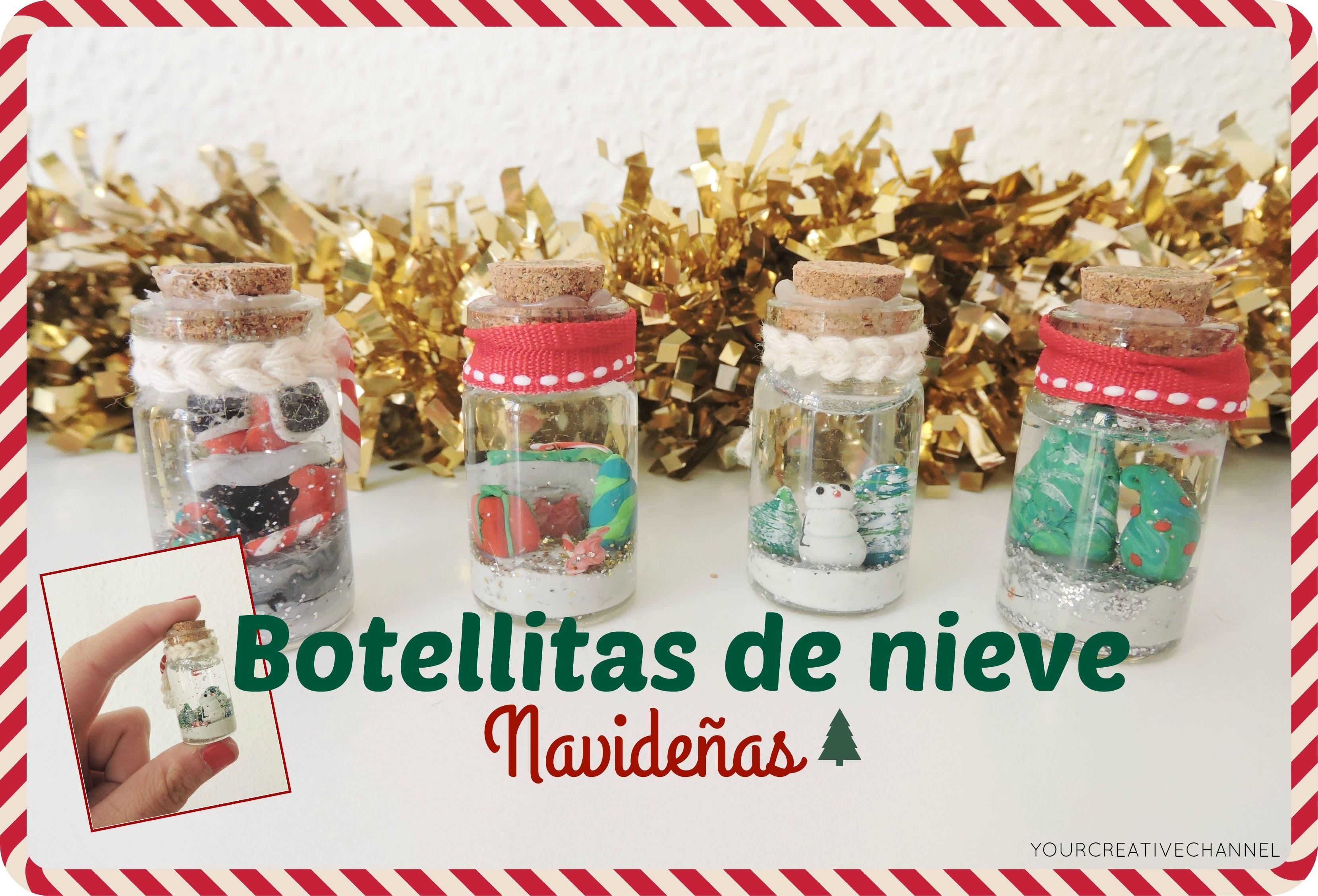 Como hacer bolas de nieve Navideñas - How to make Christmas snow balls