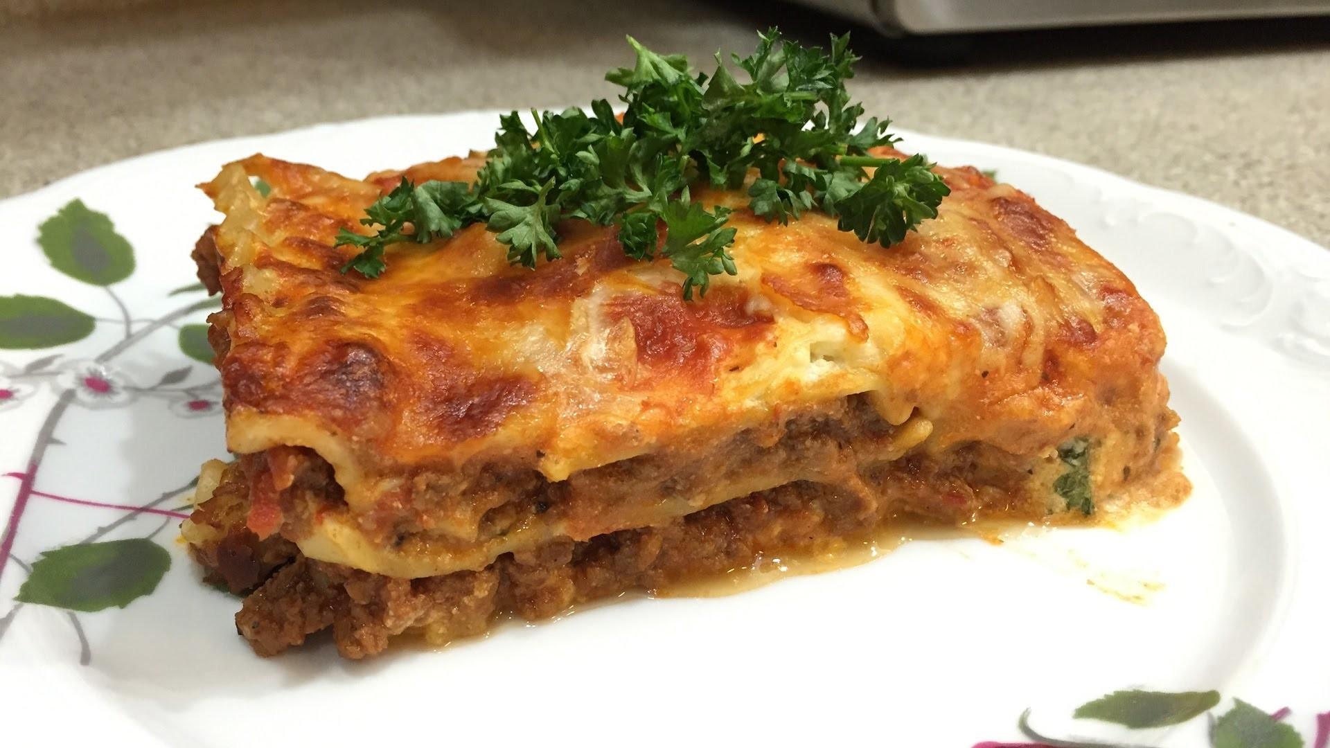 Como hacer Lasagna. How to make Lasagna