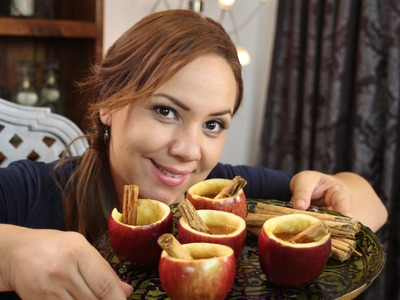 Como hacer tazas de Manzana. How to make apple cups