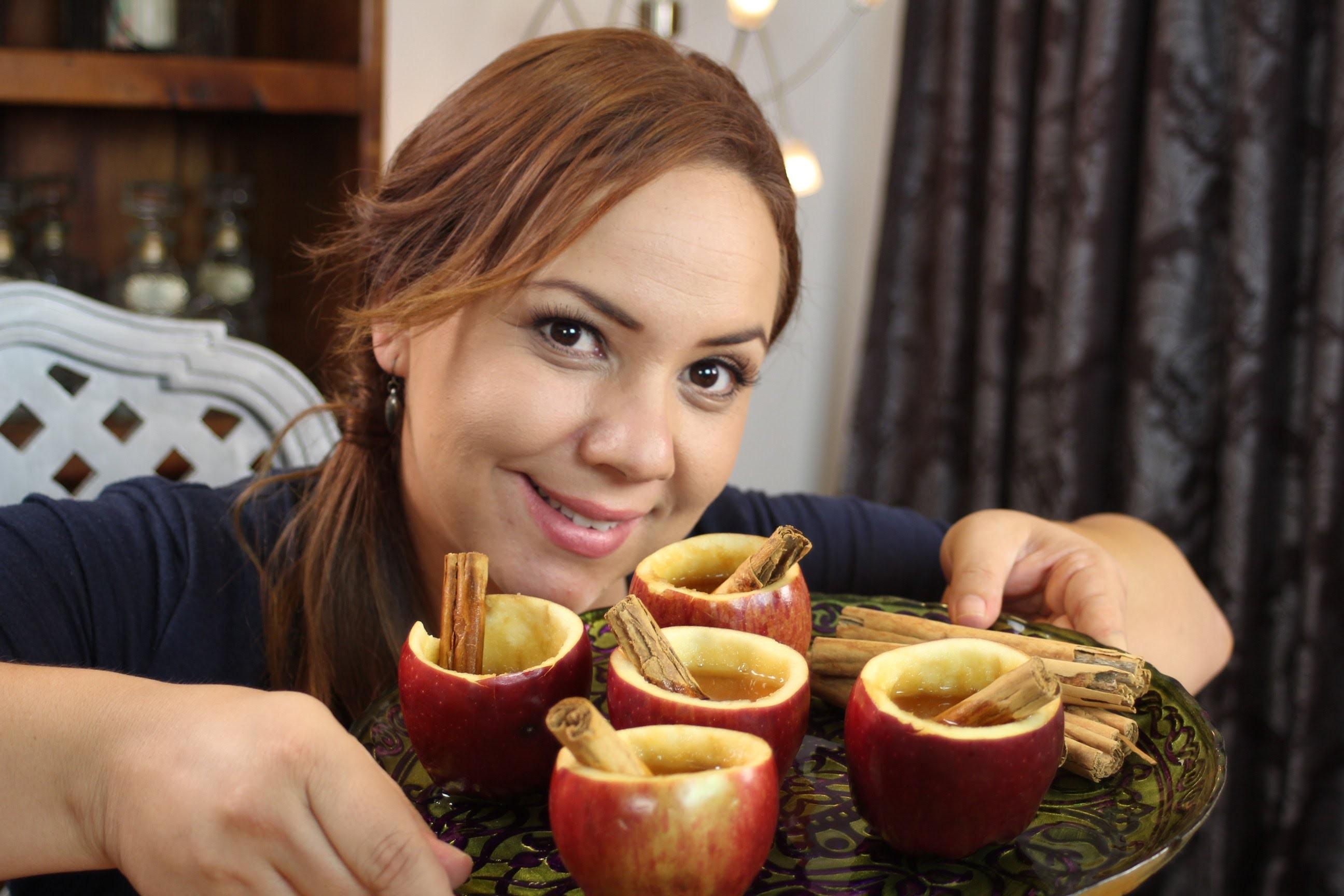 Como hacer tazas de Manzana. How to make apple cups