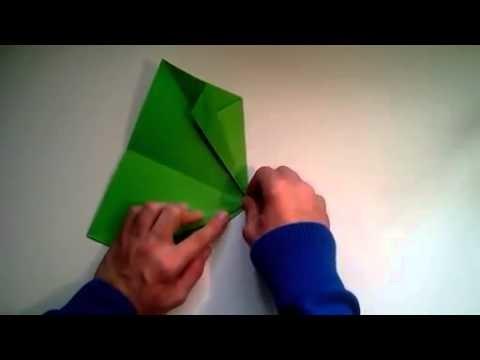 Como hacer un avion de papel bombardero sencillo   [Origami - Papiroflexia]