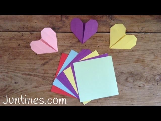 Cómo hacer un corazón de origami