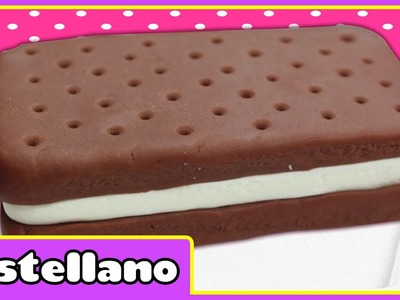 Como hacer una plastilina helado sándwich | Play Doh ice cream sandwich