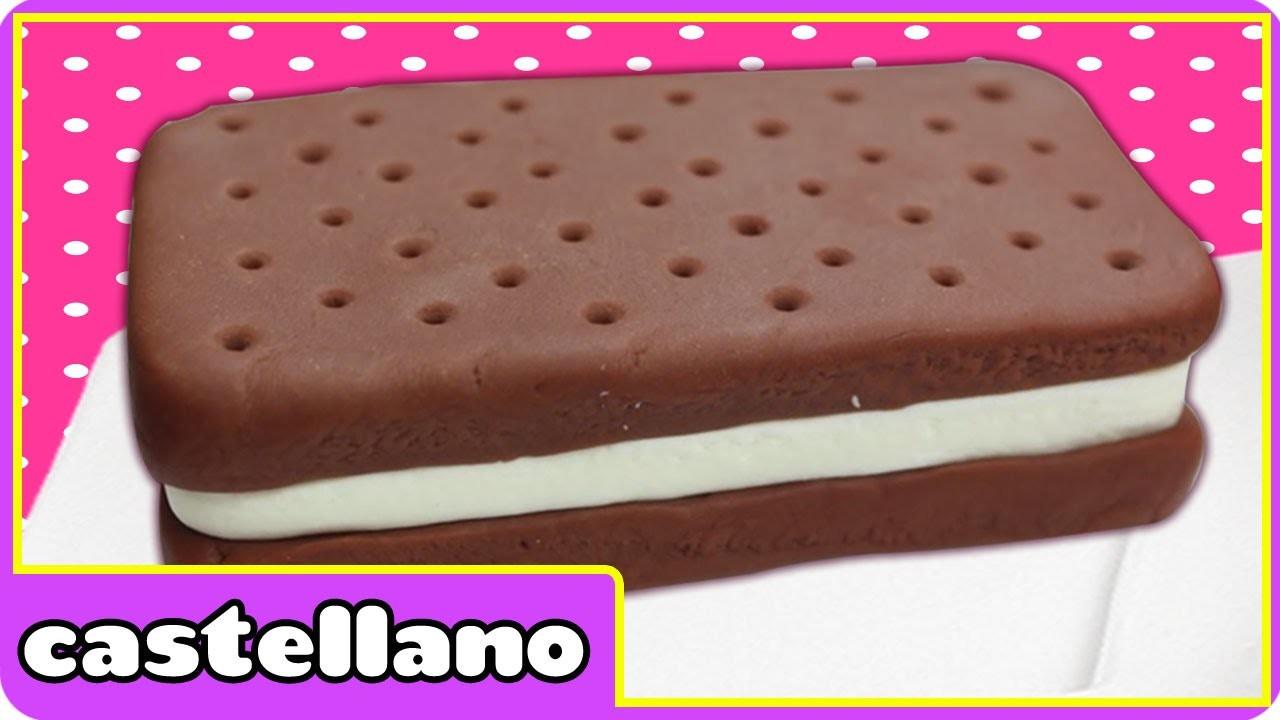 Como hacer una plastilina helado sándwich   Play Doh ice cream sandwich