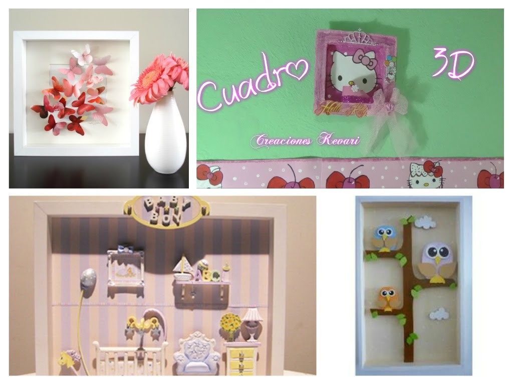 Cuadro Decorativo 3D.DIY: 3D  Wall Decor