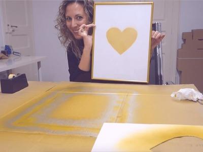 DIY - Cómo hacer Lámina Personalizada en tonos dorados