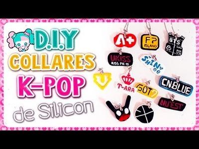 DIY ✔ COLLARES K-POP DE SILICON l Fabbi Lee