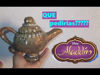 DIY COMO HACER LA LÁMPARA DE ALADDÍN (RECICLADA)JOYERO.MAKIN ALADIN'S LAMP RECICLED
