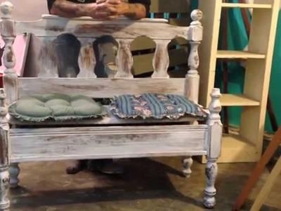 DIY con venado - banca con cabecera de cama