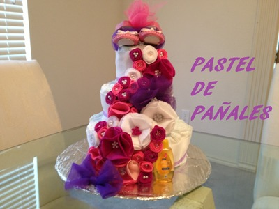 DIY: Pastel de pañales (Baby Shower)
