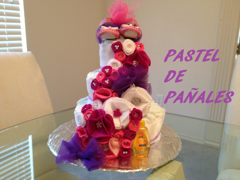 DIY: Pastel de pañales (Baby Shower)