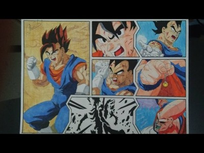 DRAGON BALL Z HOW TO DRAW VEGETTO VEGITO IS BORN DRAWING DIBUJO 図 ベジット