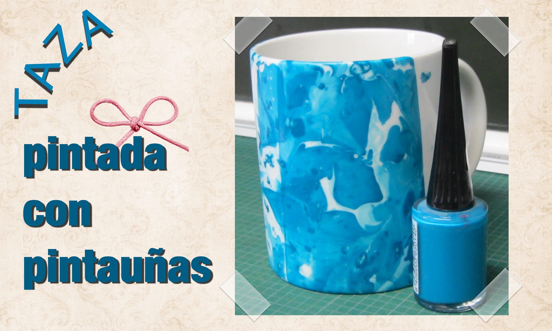 Forma fácil de pintar una taza con pintauñas