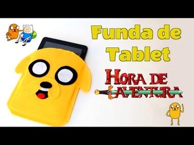 Funda para tablet de fieltro jake el perro hora de aventuras
