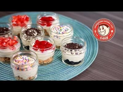 ¡CHEESECAKES SIN HORNO! - Cómo hacer Mini Cheesecakes para llevar - El Guzii