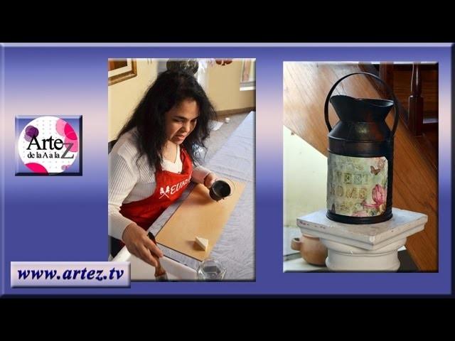 Ideas para decorar  jarro de latón