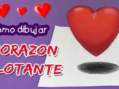 ILUSIONES ÓPTICAS FÁCILES * Dibujo Corazón FLOTANTE en 3D