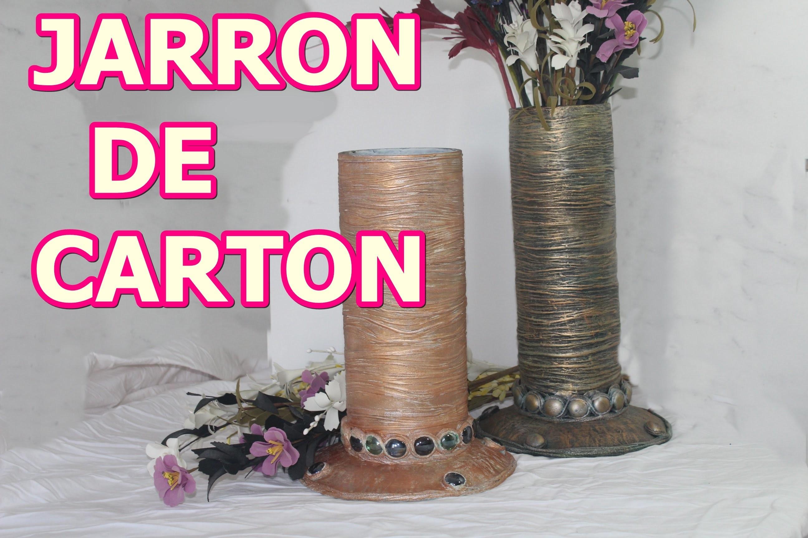 JARRON DE CARTON