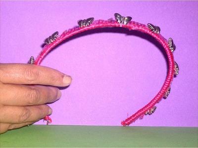Manualidades fáciles  diadema con mariposas