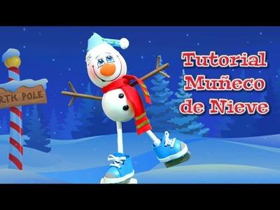 Manualidades para Navidad: muñeco de nieve de goma eva o foamy - Isa ❤️