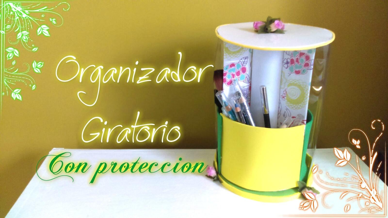 ORGANIZADOR GIRATORIO CON PROTECCIÓN PARA BROCHAS